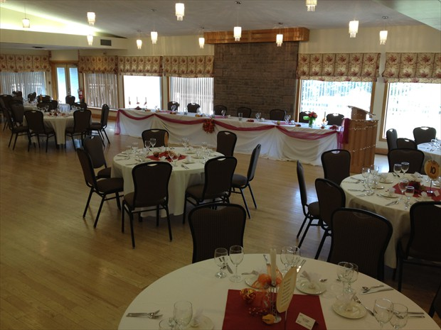 Banquet Room set up for a wedding