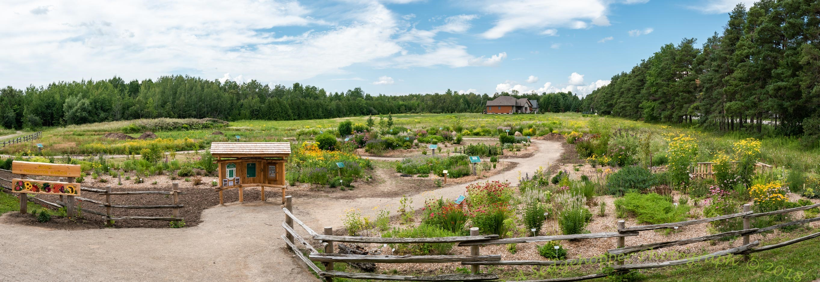 Panoramic view of the Pollintor Garden. Photo Credit: Kevin Tipson
