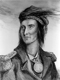 Tecumseh, leader of the Shawnee, an Algonquian-speaking people native to North America