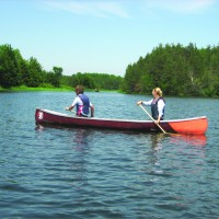 Two People Canoeing at Island Lake Conservation Area
