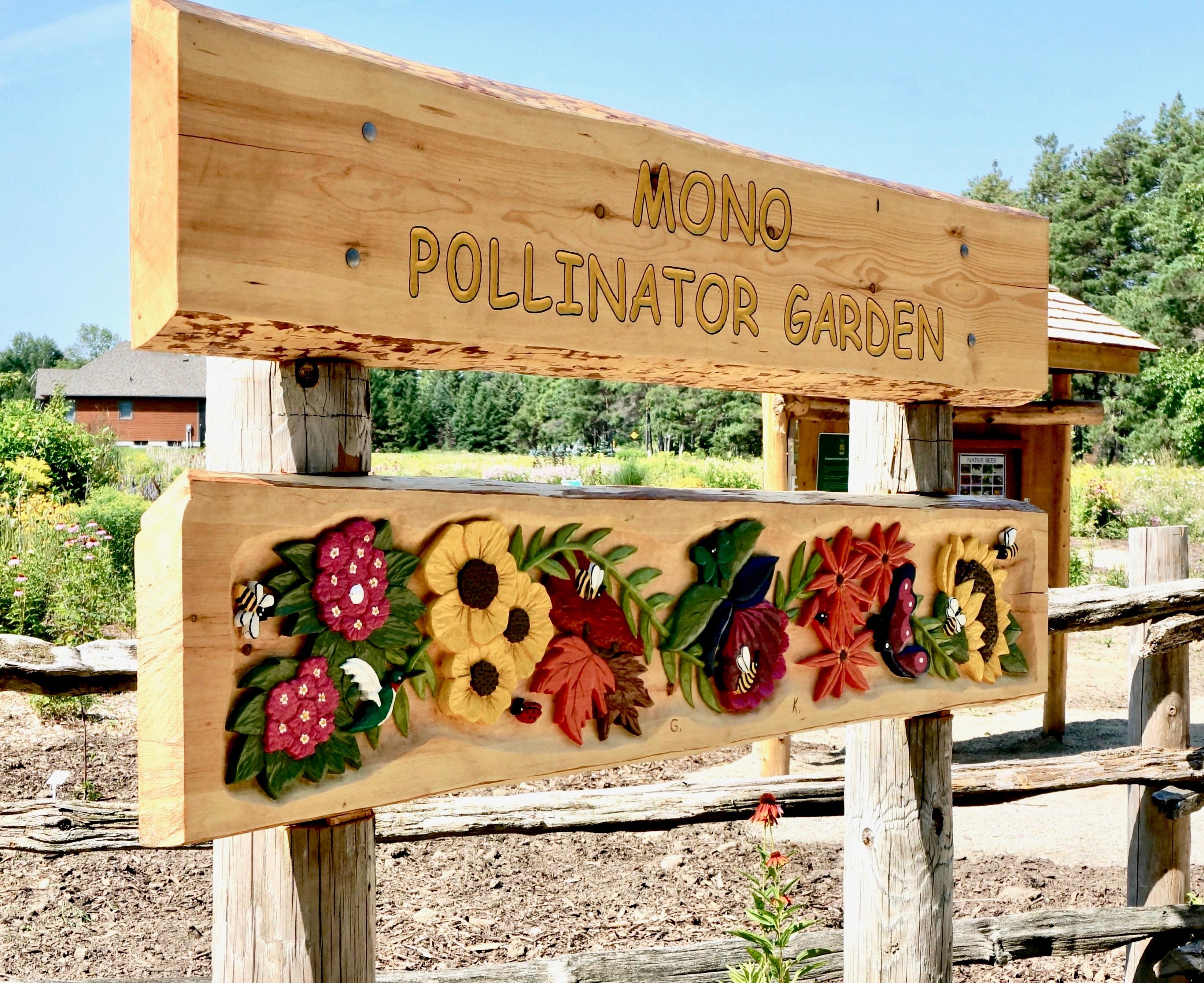 Mono Pollinator Garden Sign