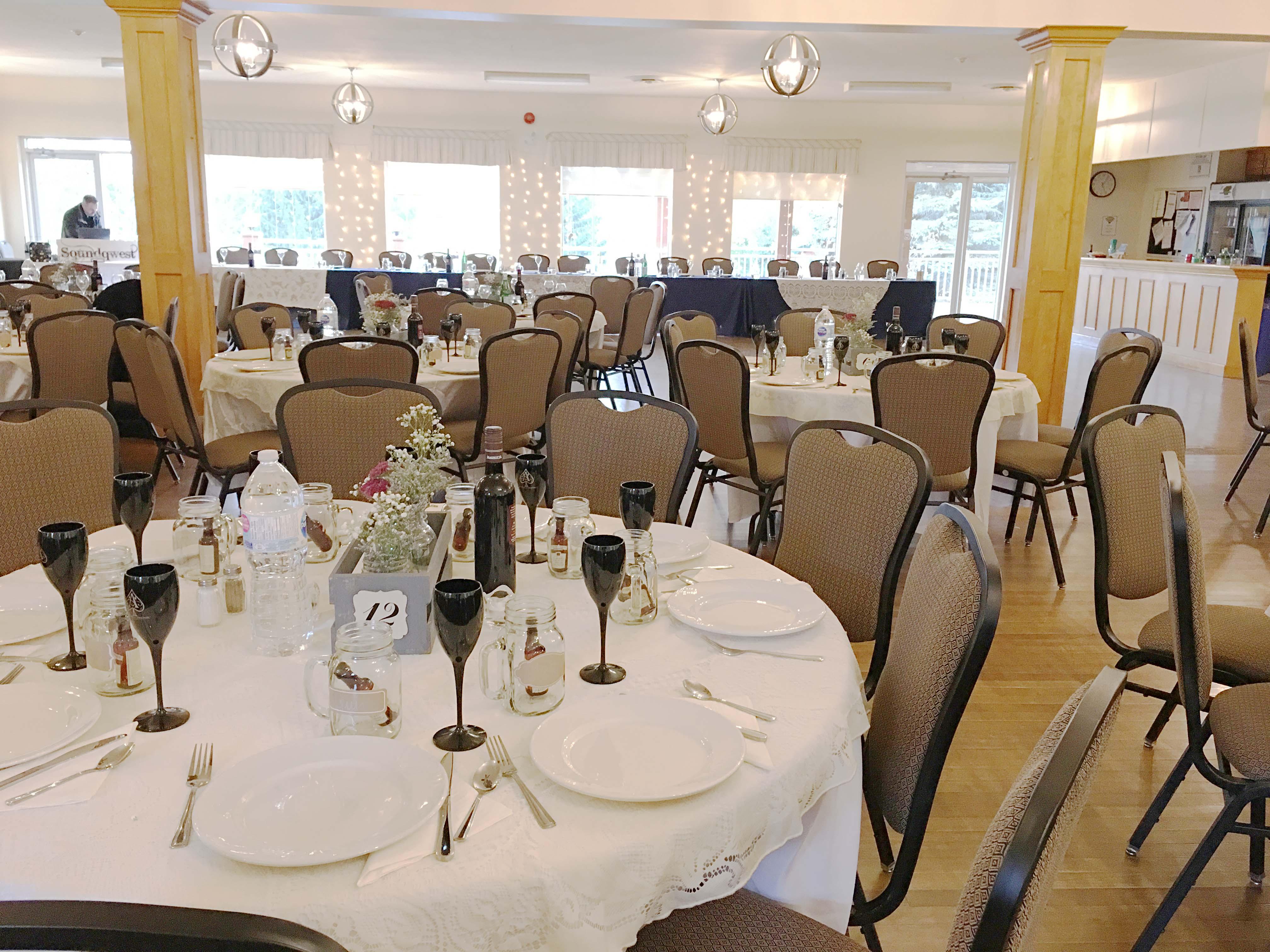Mono Community Centre Banquet Room Decorated