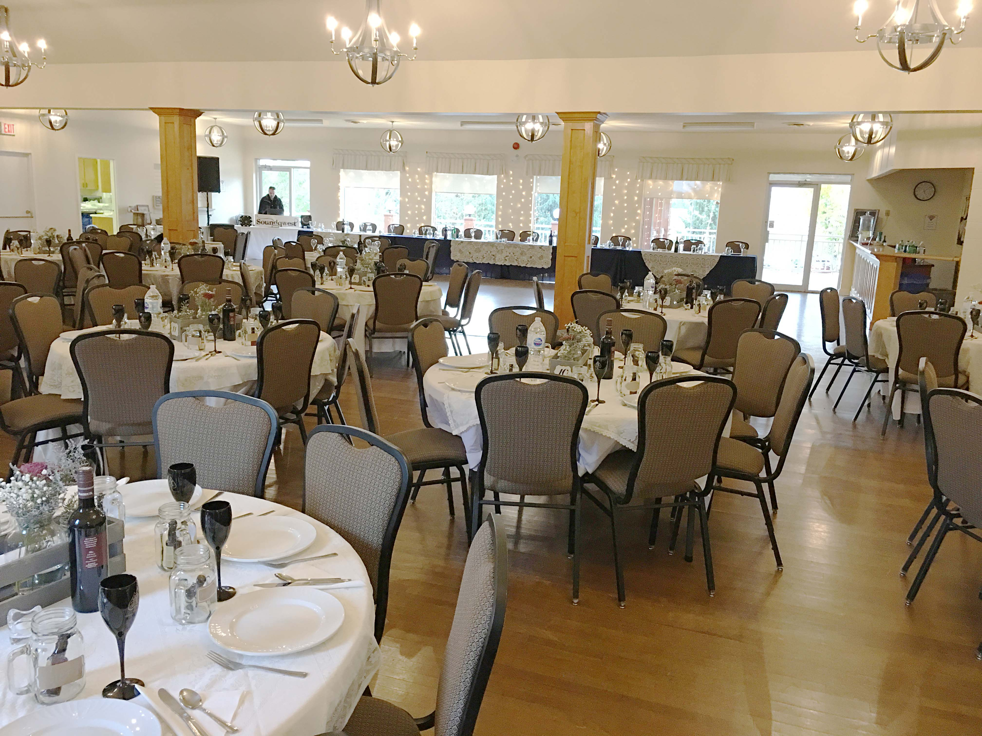 Mono Community Centre Banquet Room Decorated for a Wedding