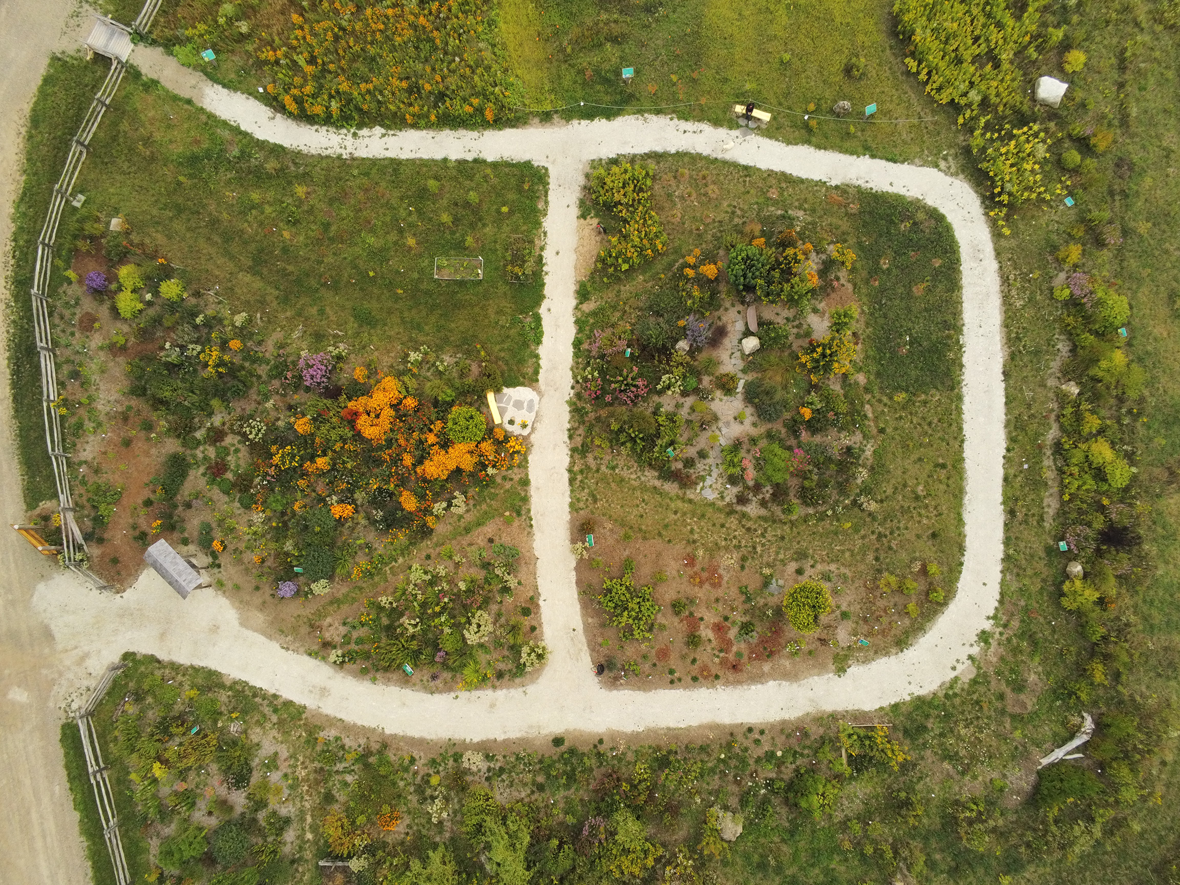 Aerial Photo of the Mono Pollinator Garden