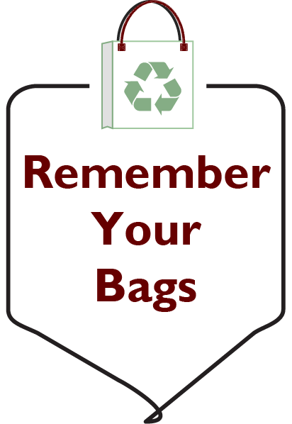 Remember Your Bags Graphic