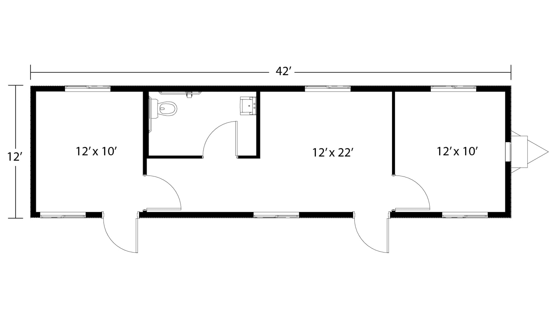 Mobile Office Trailer Layout 4