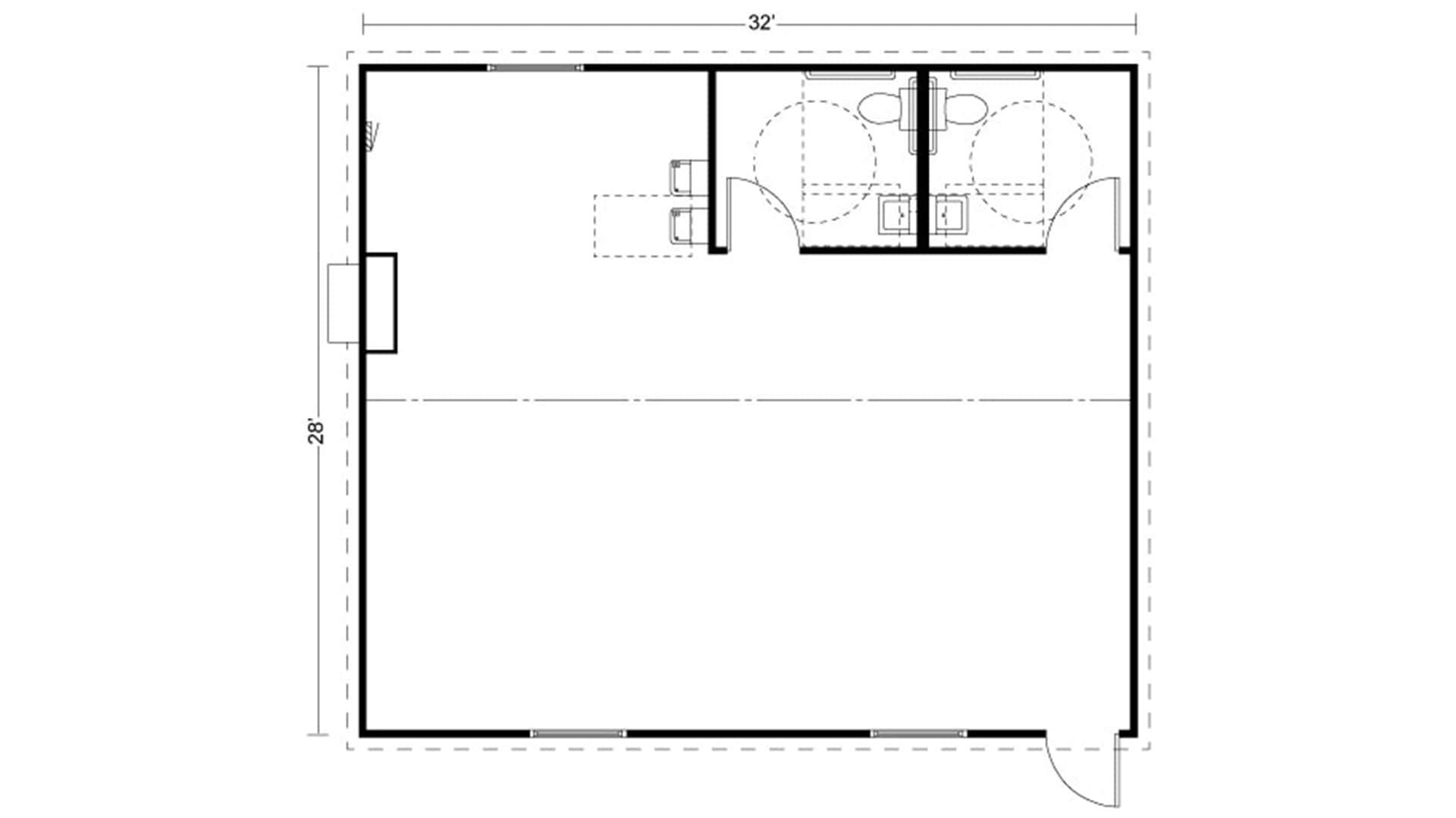 Portable Classroom Floor Plan