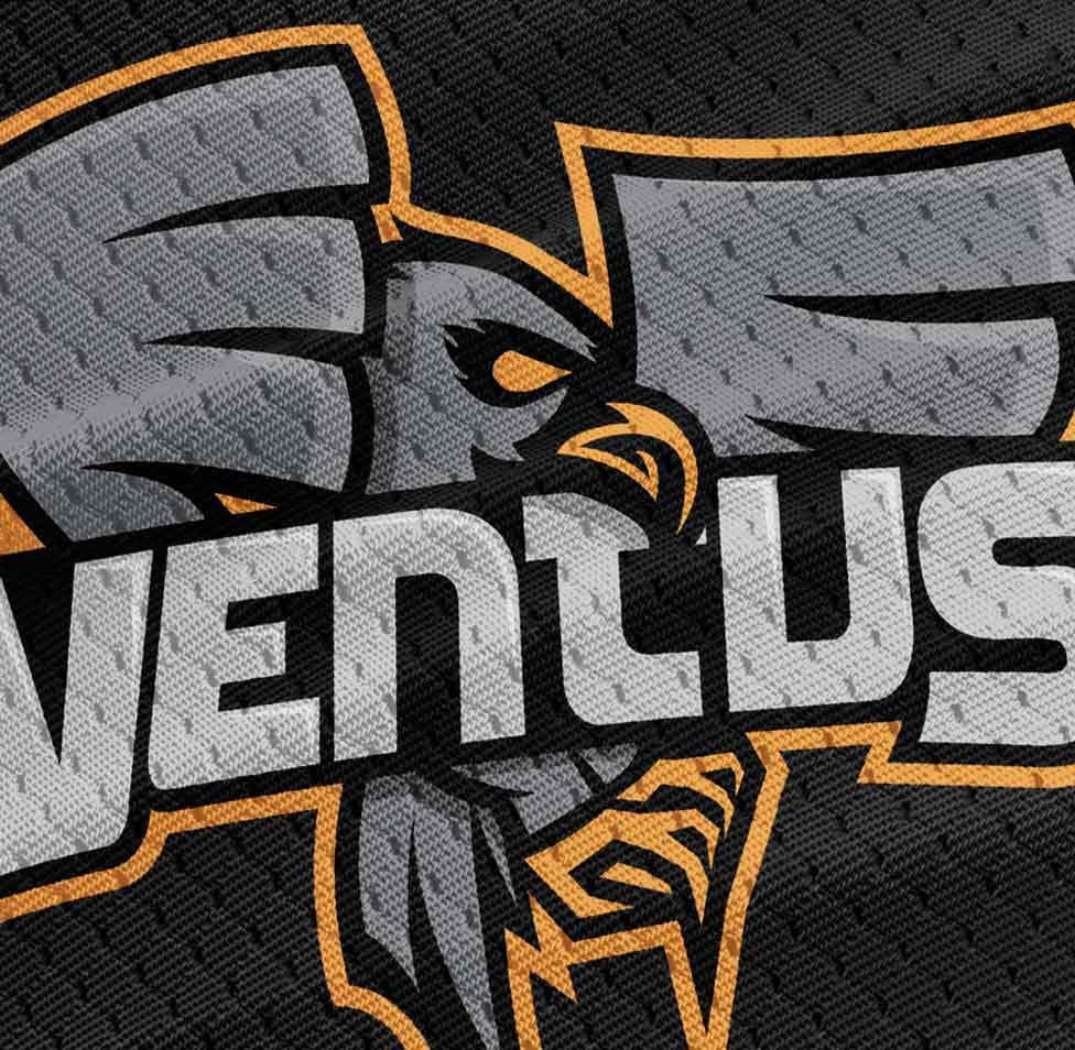 Ventus logo on a shirt