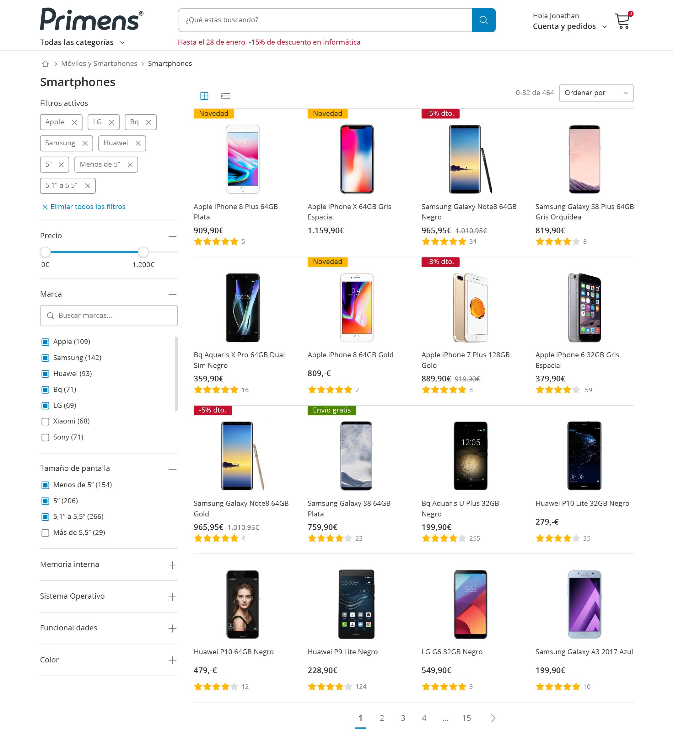 Primens product page design