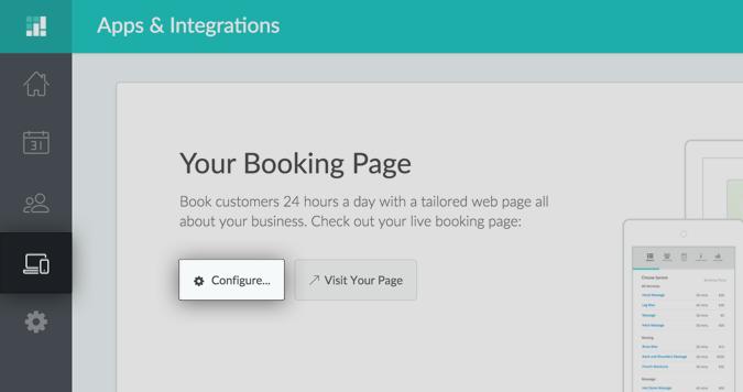 Screenshot Setmore Booking Page