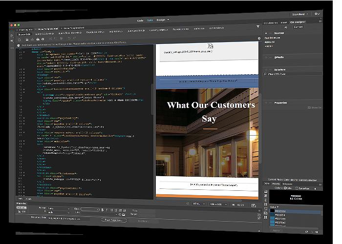 Website design in development phase