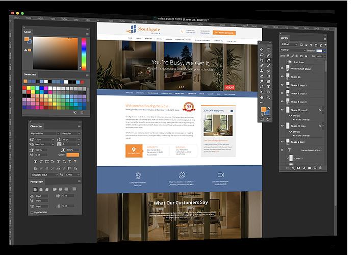 Website design graphic