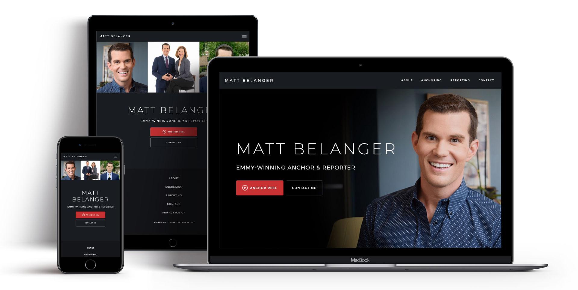 Matt Belanger's website on all devices