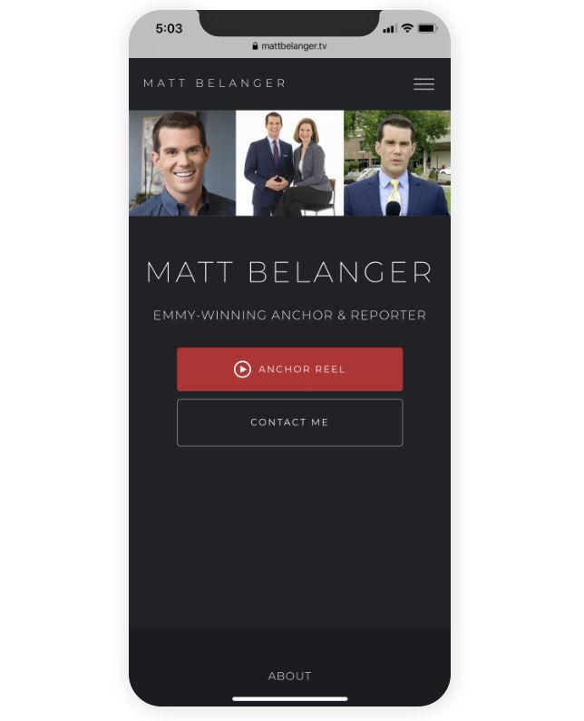 Matt Belanger's mobile website