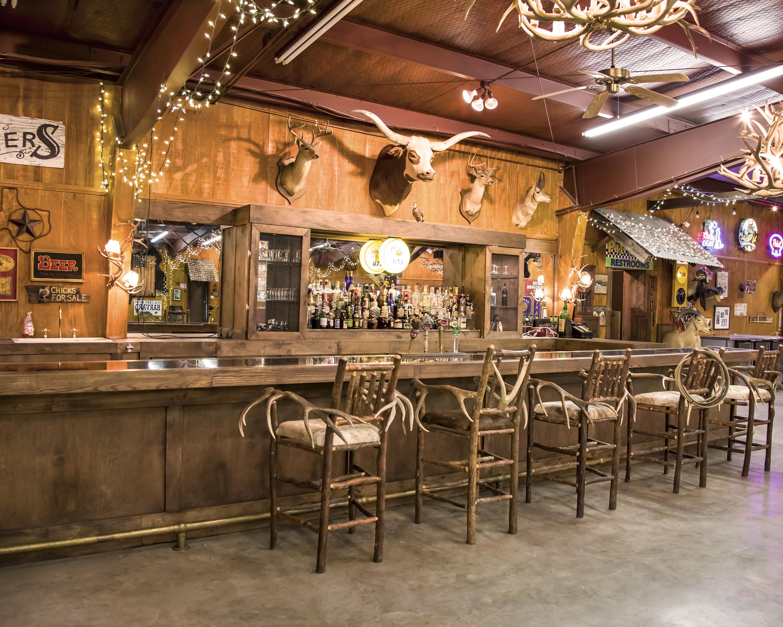 saloon bar area and bar stools