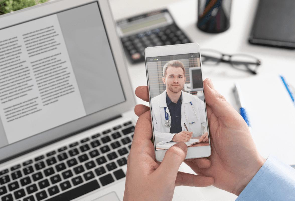 telemedicine on a phone