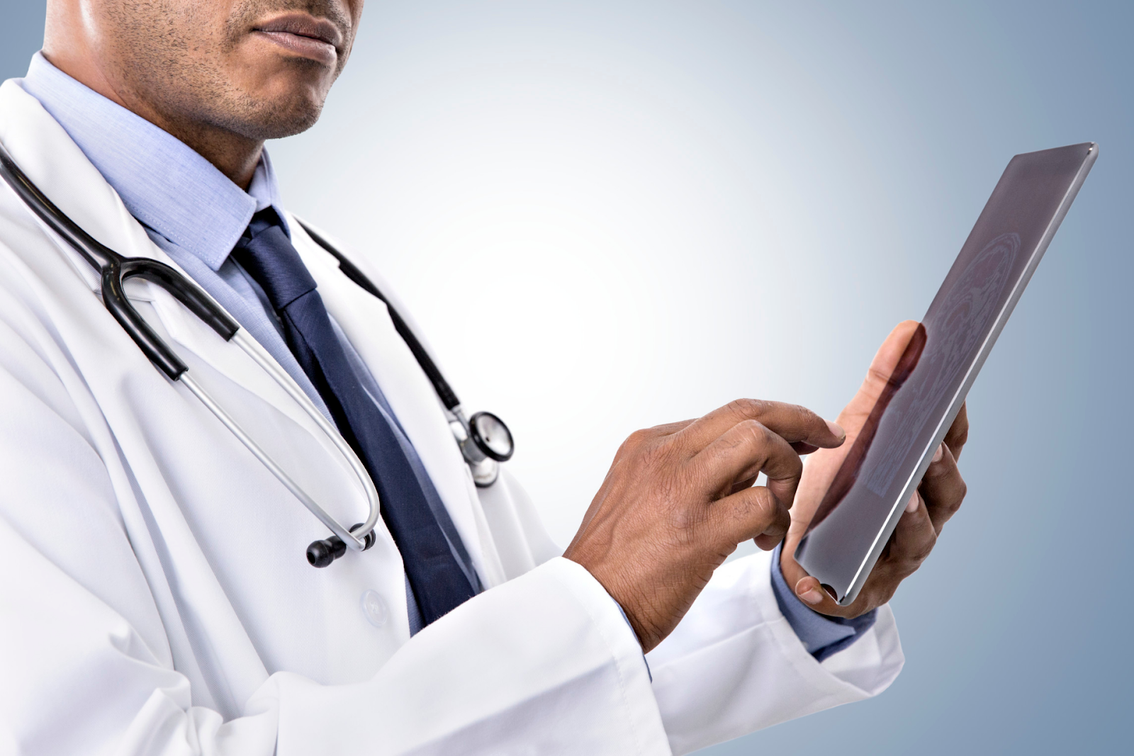 doctor on a tablet