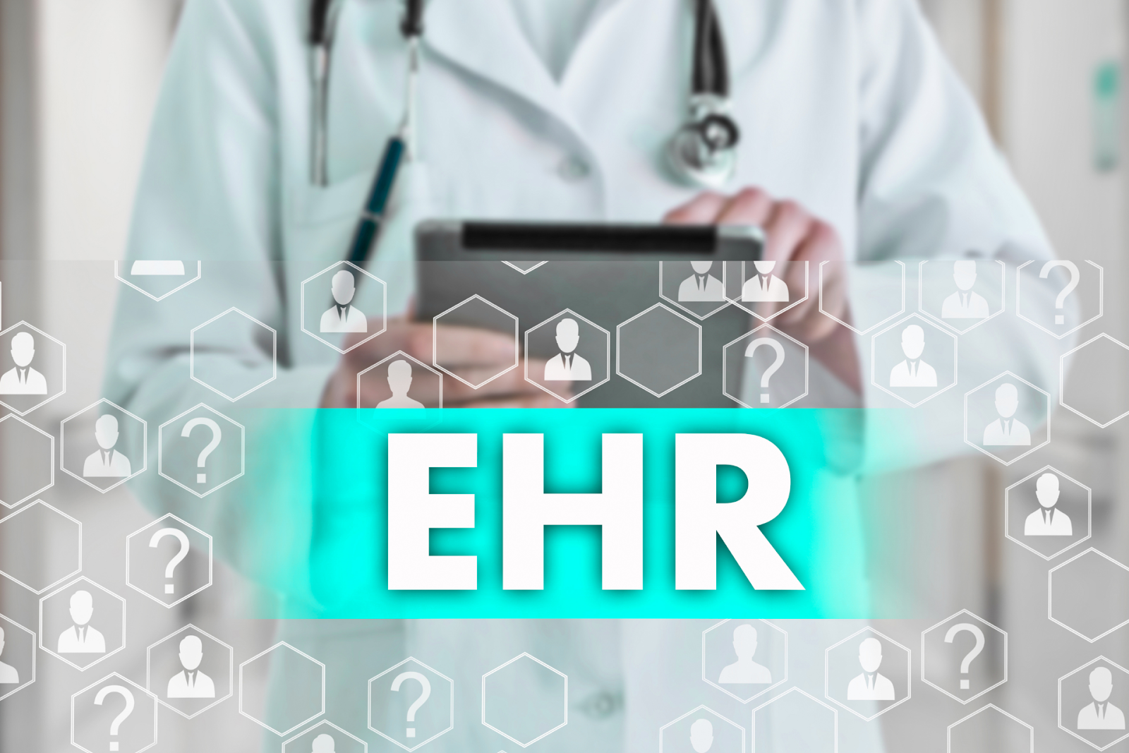 doctor using ehr record