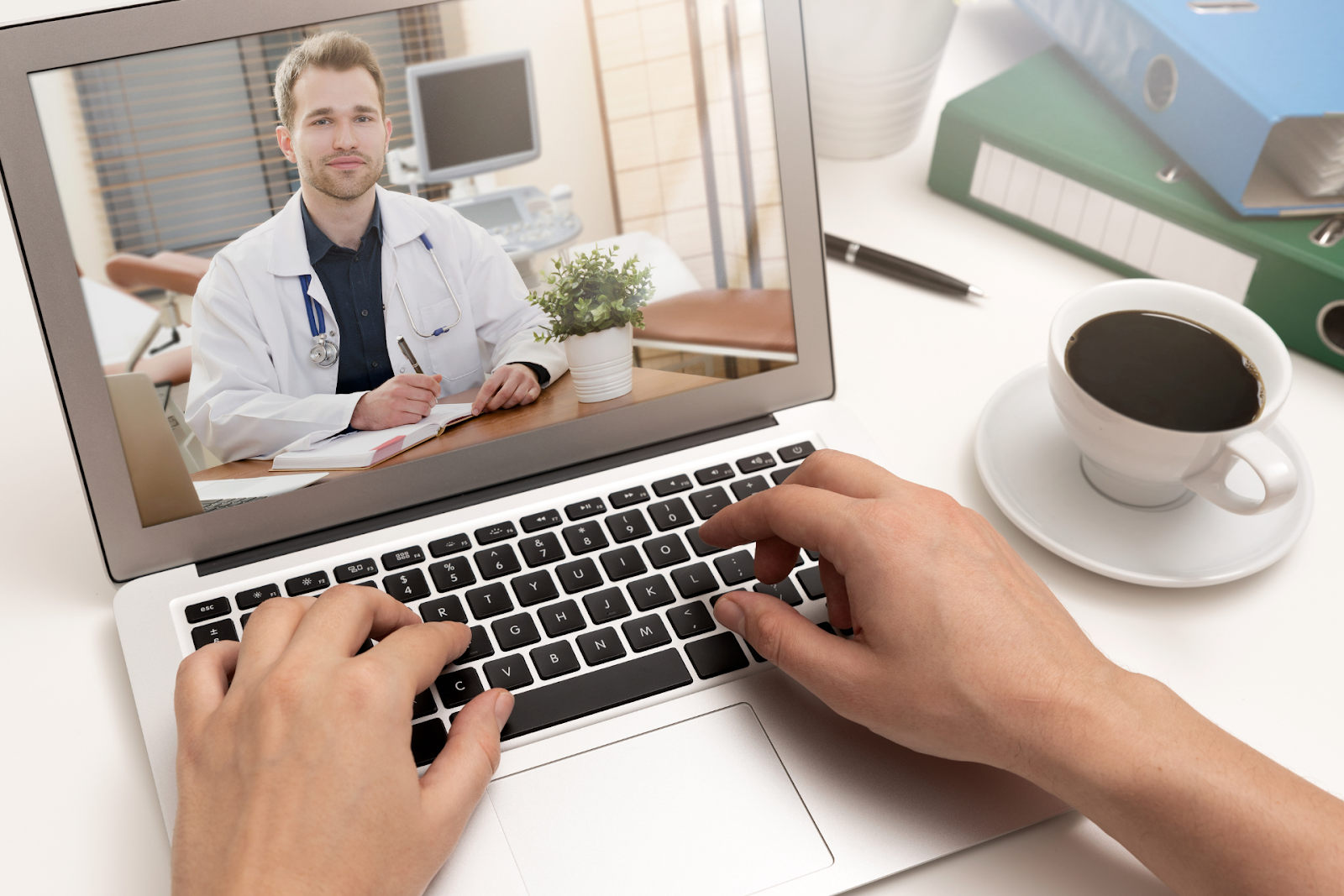 person video conferencing with doctor