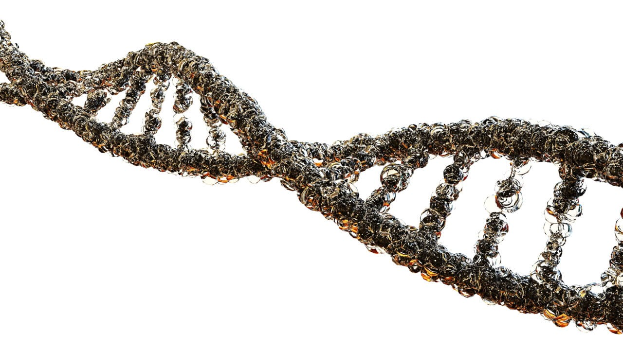 strand of DNA detailed research diagram visual representation