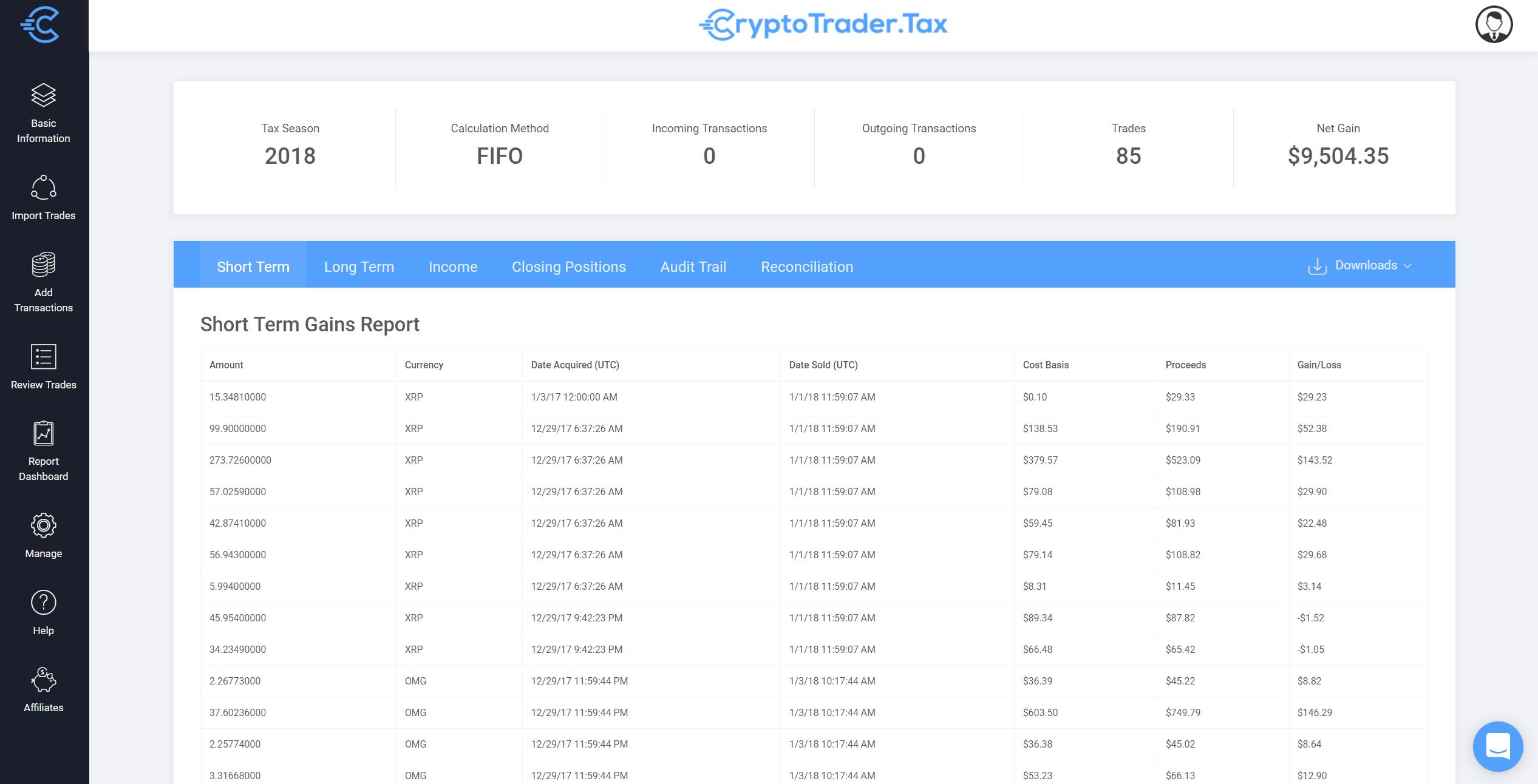 Bitcoin Tax Report Downloads