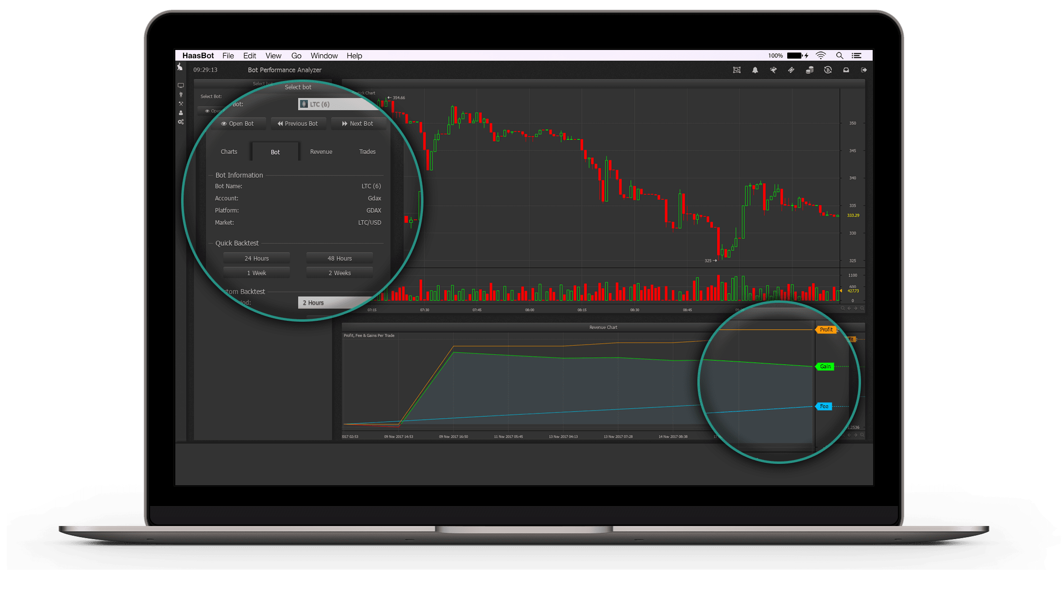 Haas Online Trading Bot Dashboard