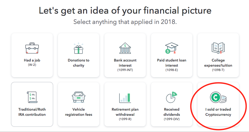 Cryptocurrency TurboTax Financial Picture