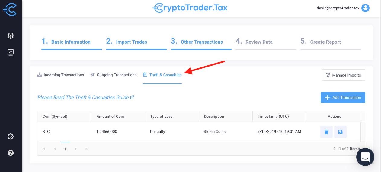 Crypto tax theft
