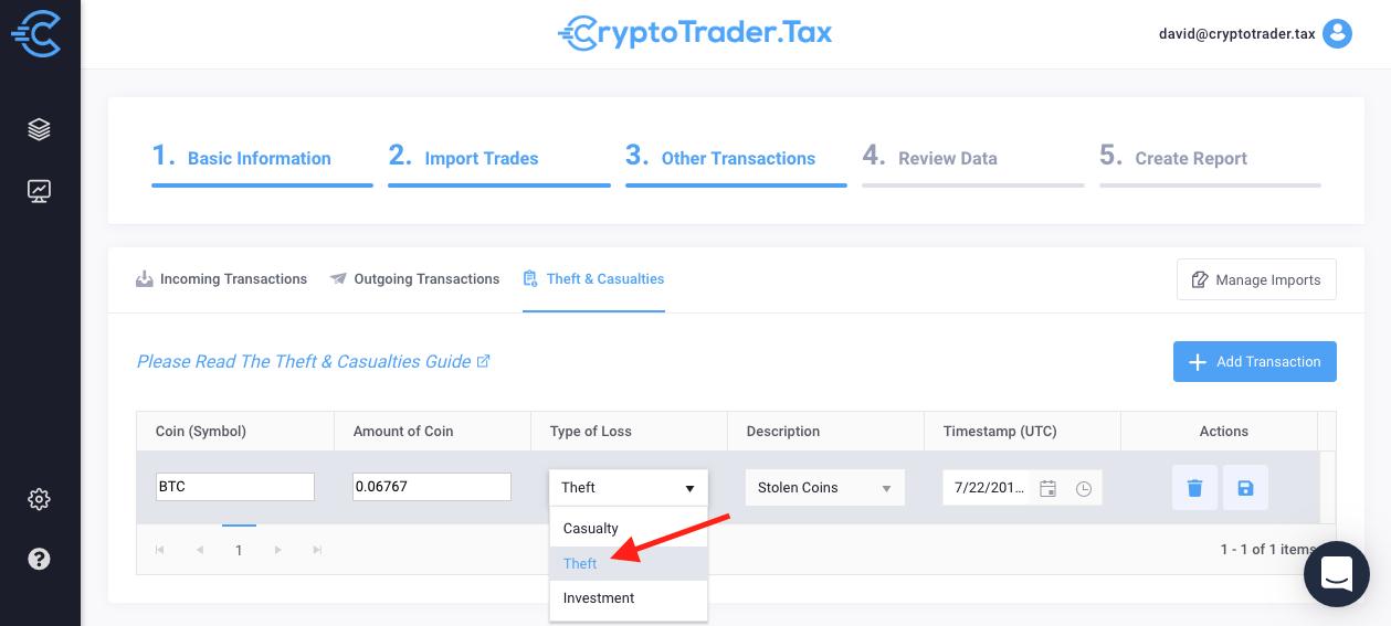crypto tax loss