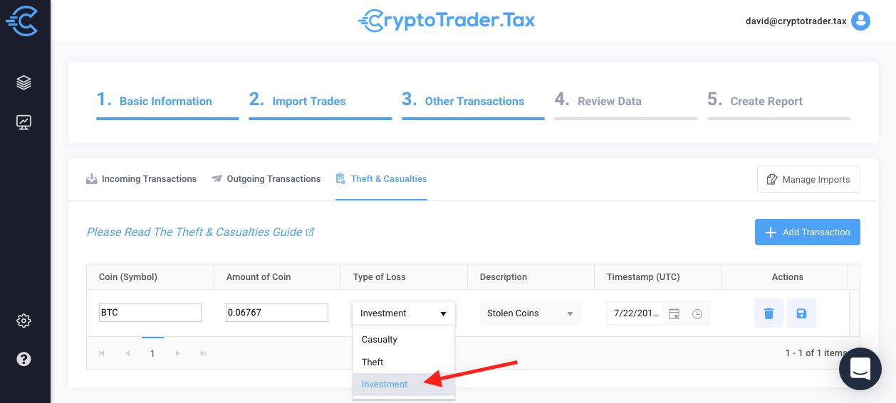 bitcoin tax losses