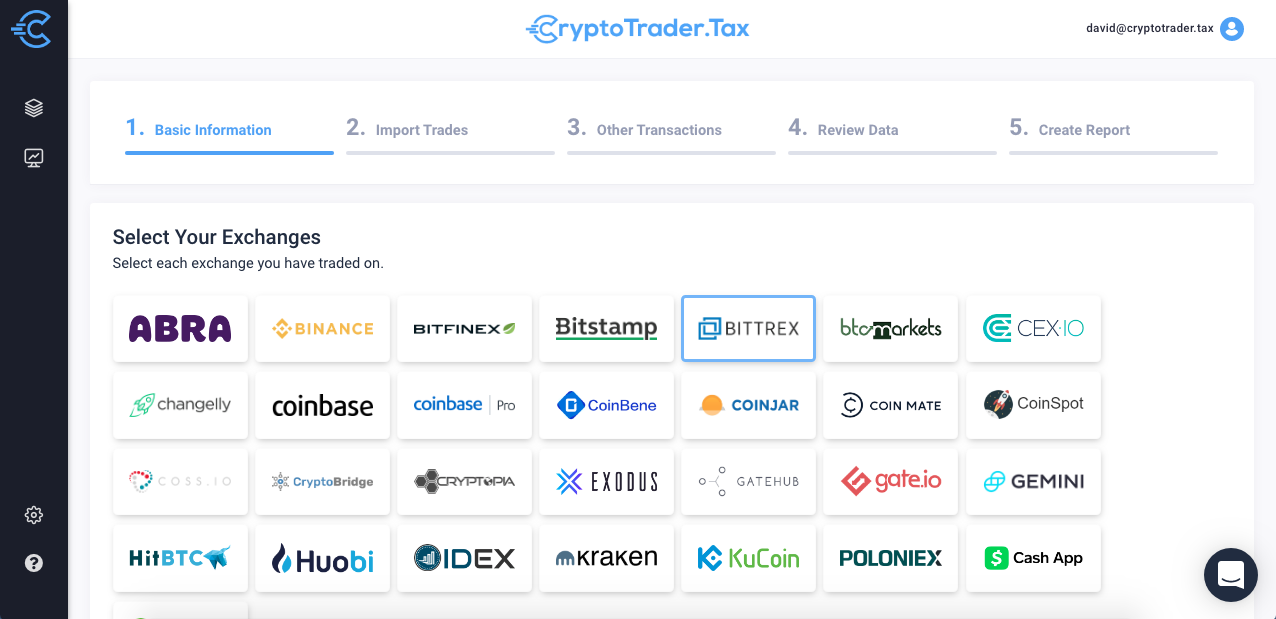 Doing Your Bittrex Taxes