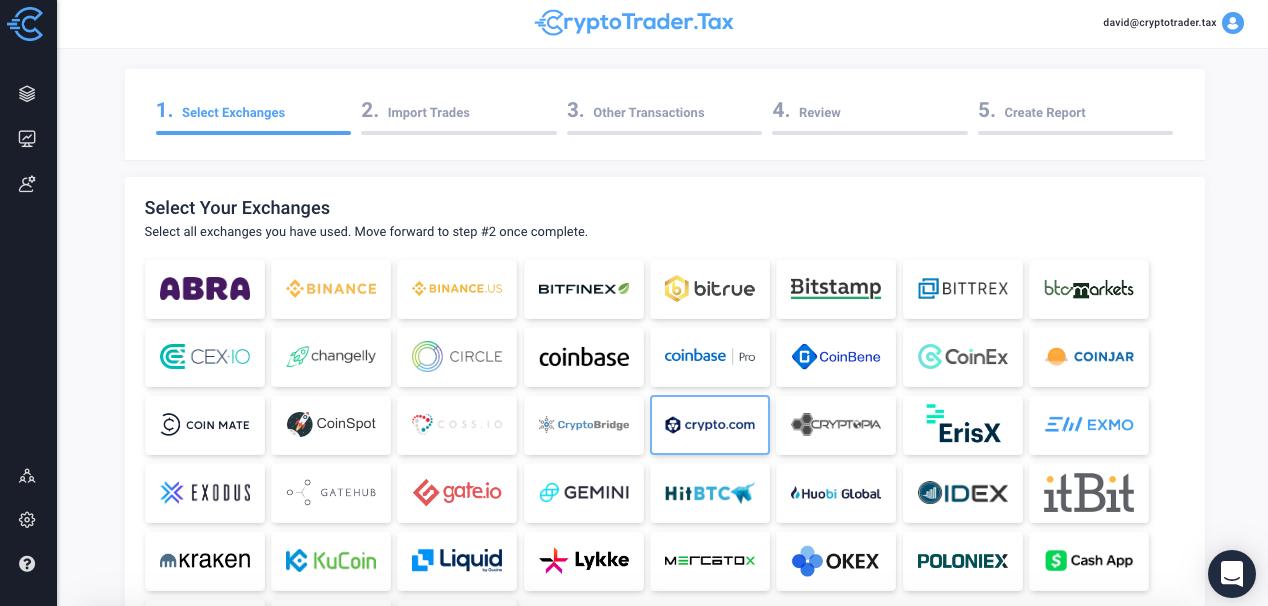 Crypto.com taxes