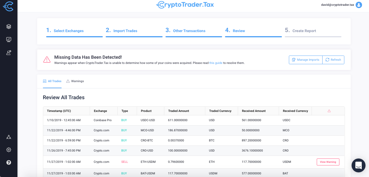 Tax reporting crypto.com
