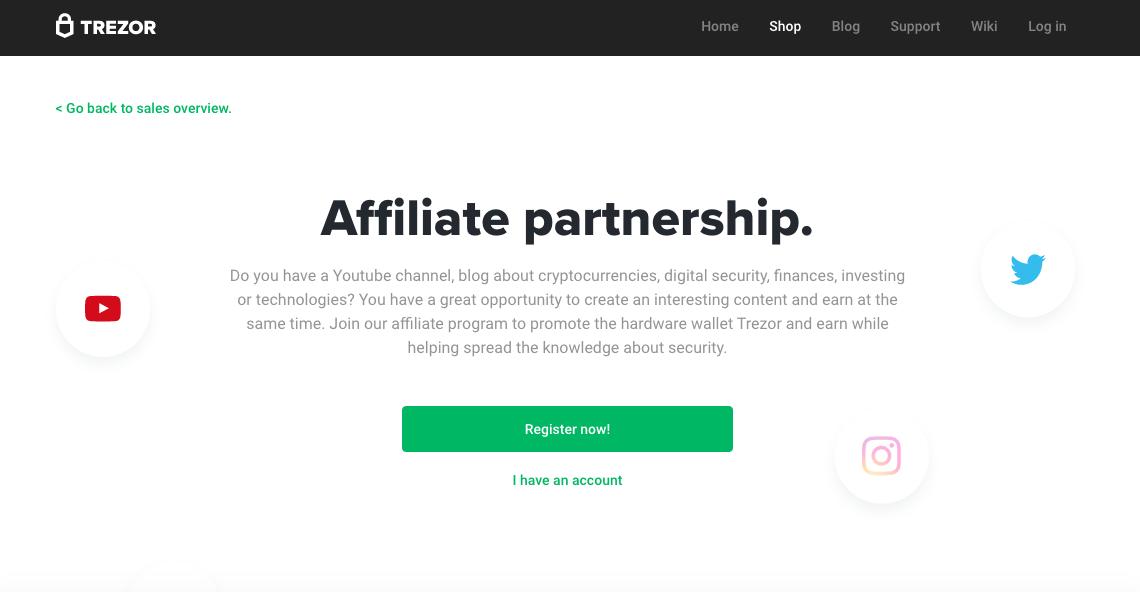 trezor crypto affiliate program