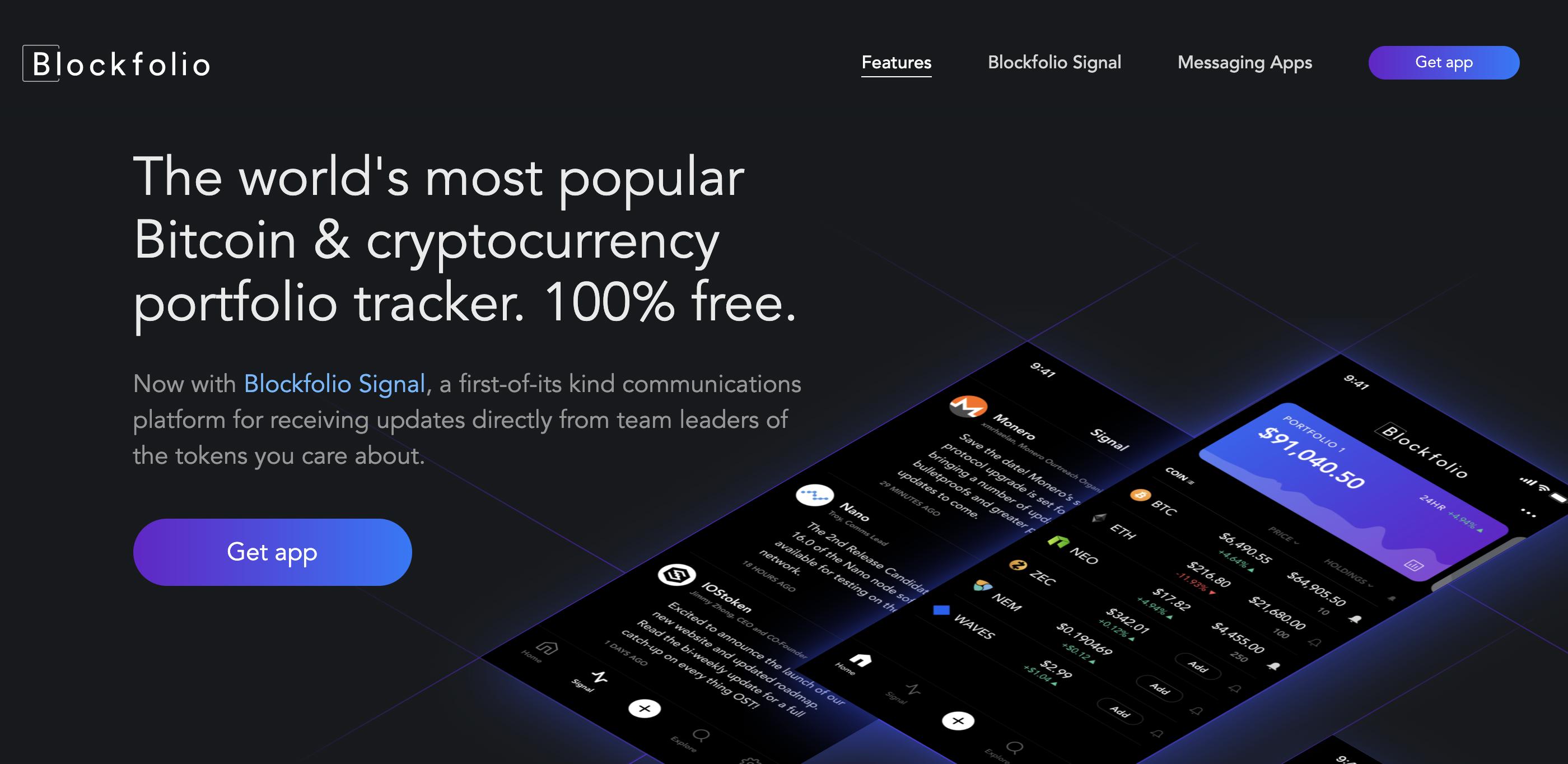 Blockfolio crypto portfolio tracker