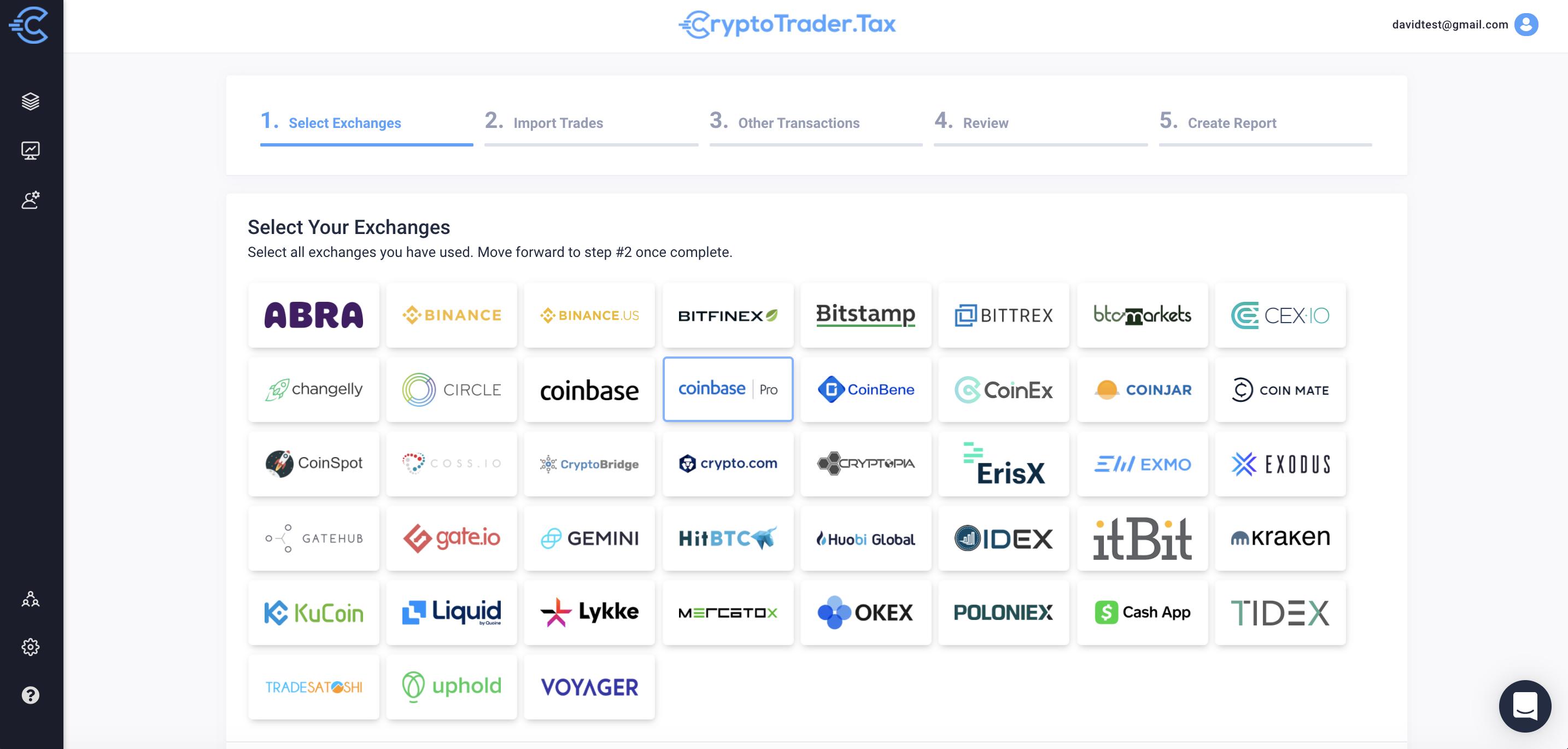Coinbase Pro CryptoTrader.Tax Import