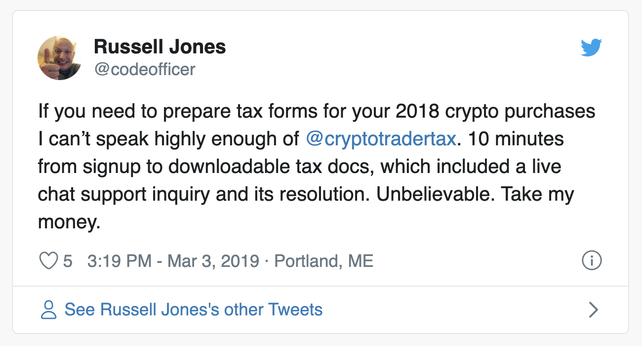 CryptoTrader.Tax twitter