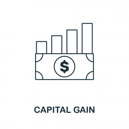 Capital Gain Icon