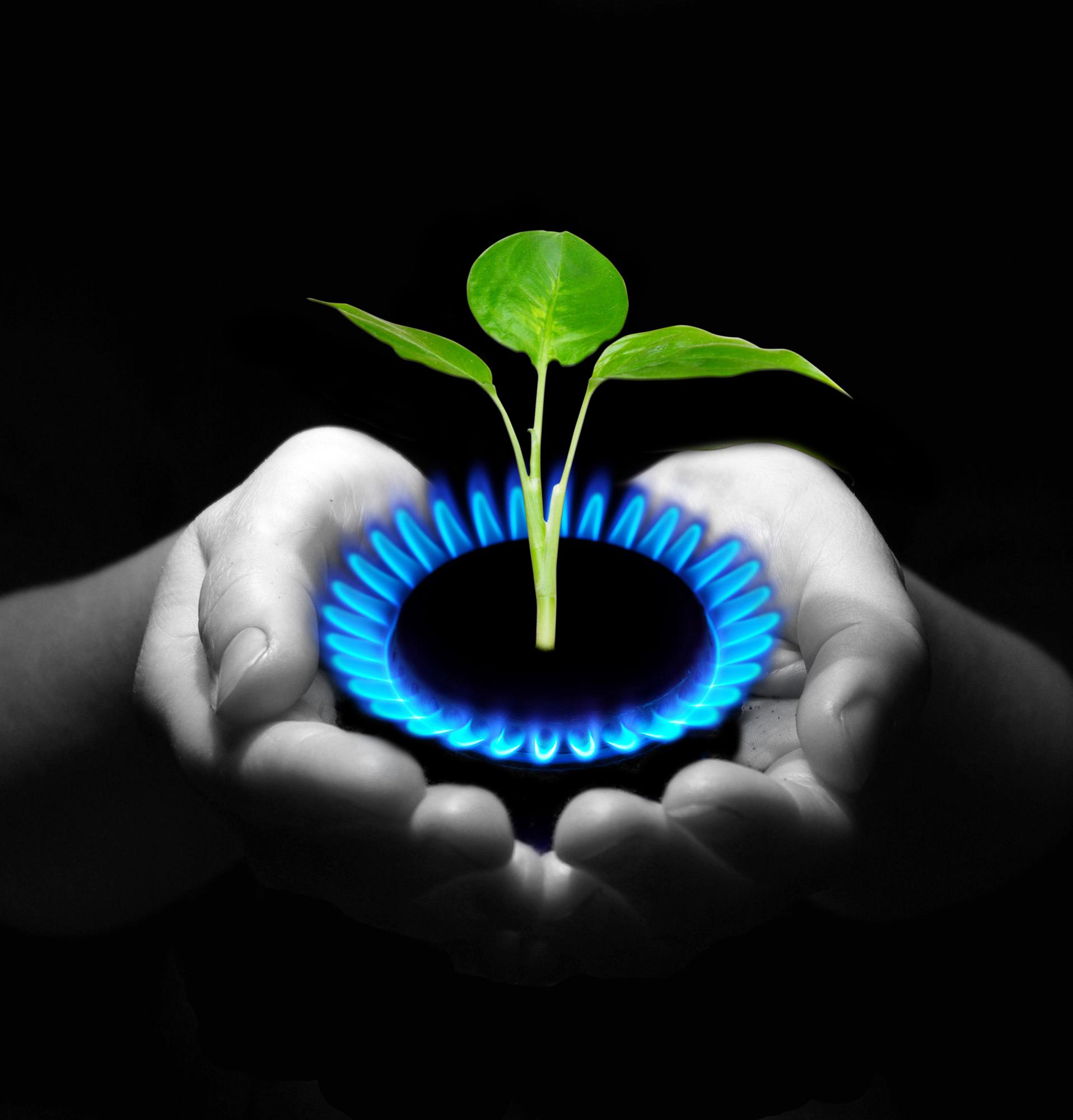 Clean burning propane gas
