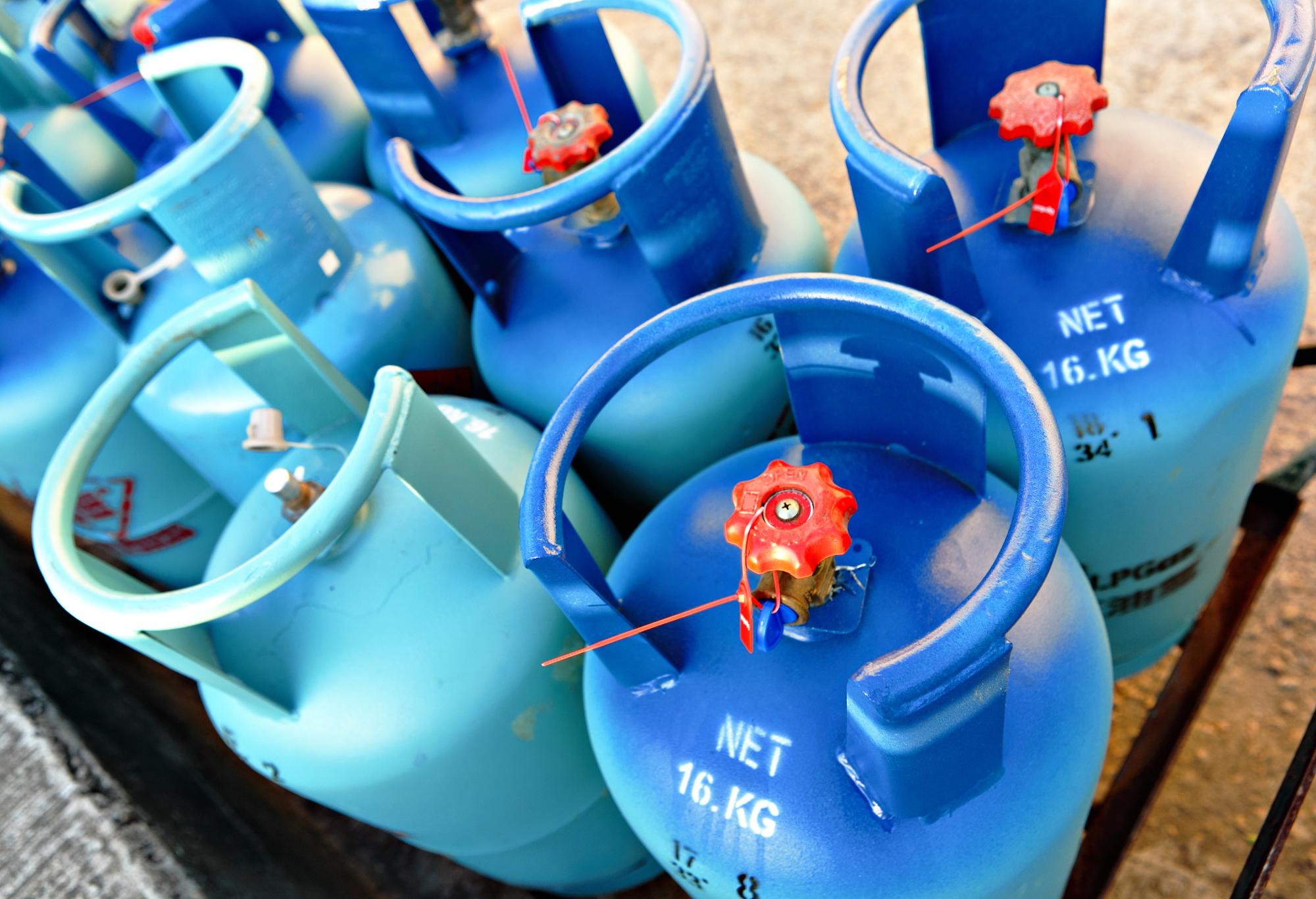 Propane gas tanks