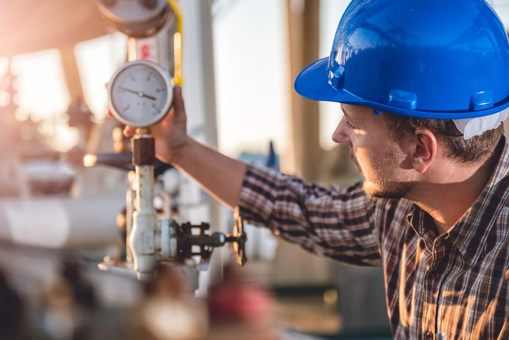 Propane supplier checks gas