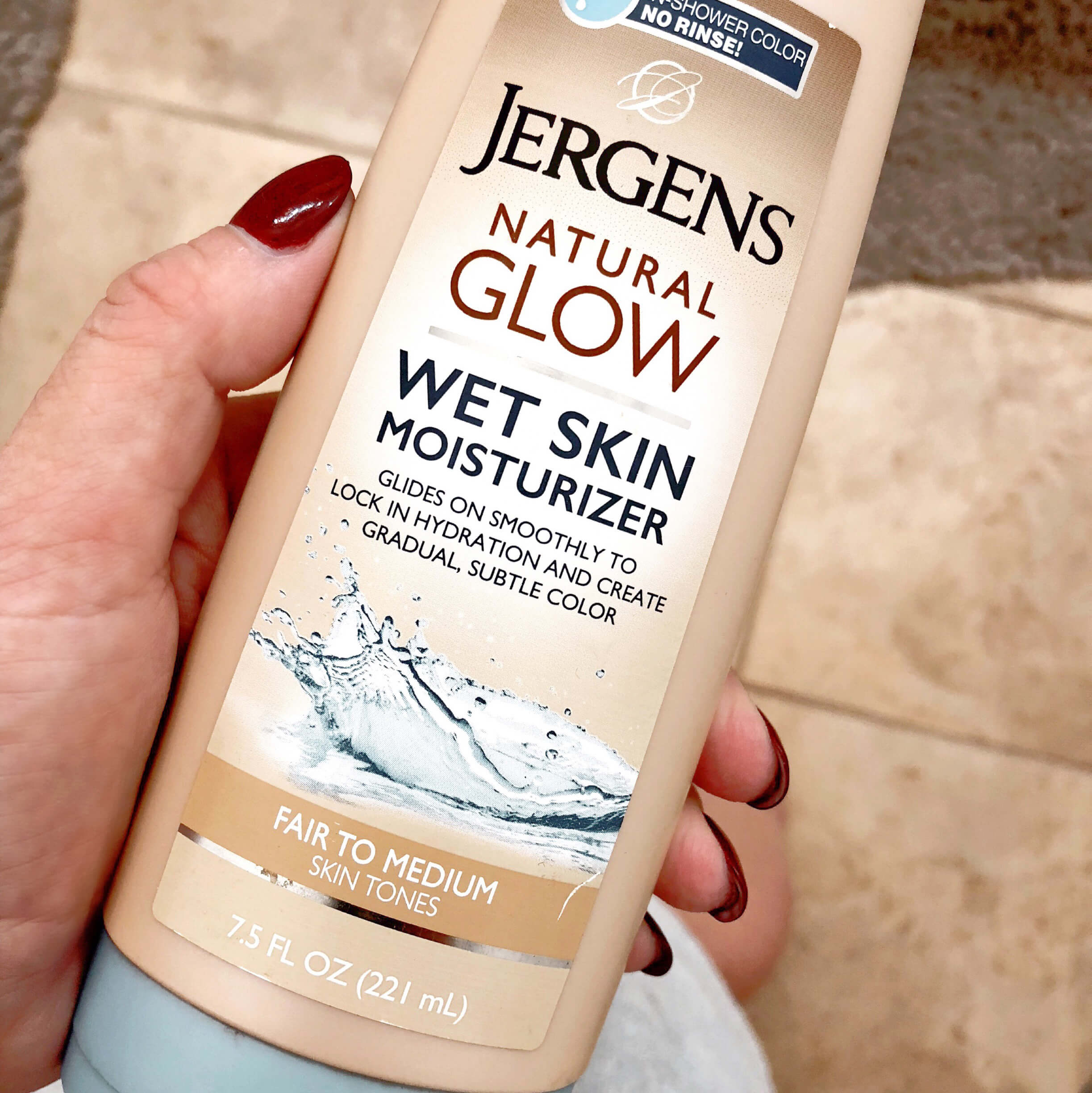 Product Review Jergen S Natural Glow Wet Skin Moisturizer