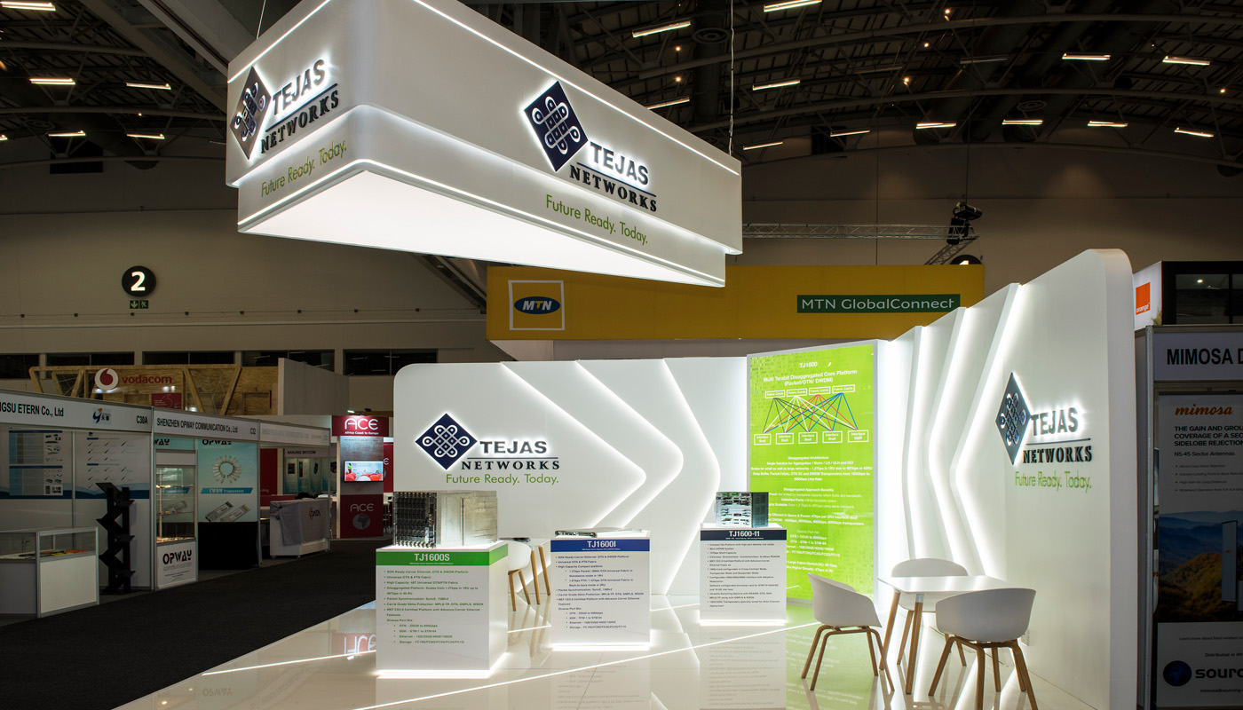 Tejas Networks Exhibition Stand Design Africom 2