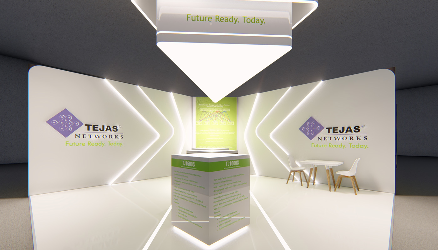 Tejas Networks Exhibition Stand Design Africom 6