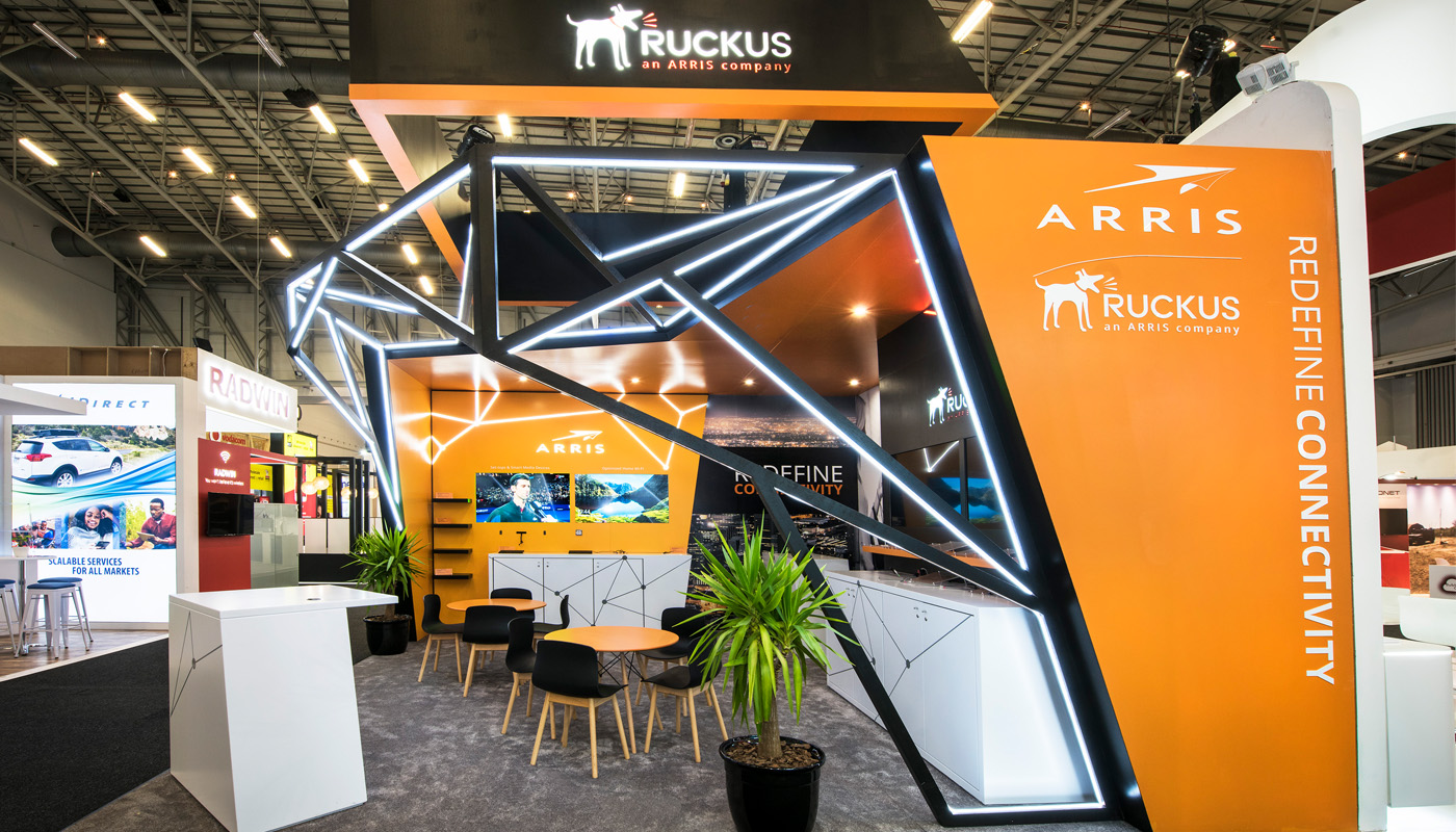 Ruckus Networks Exhibition Stand Design Africom 8