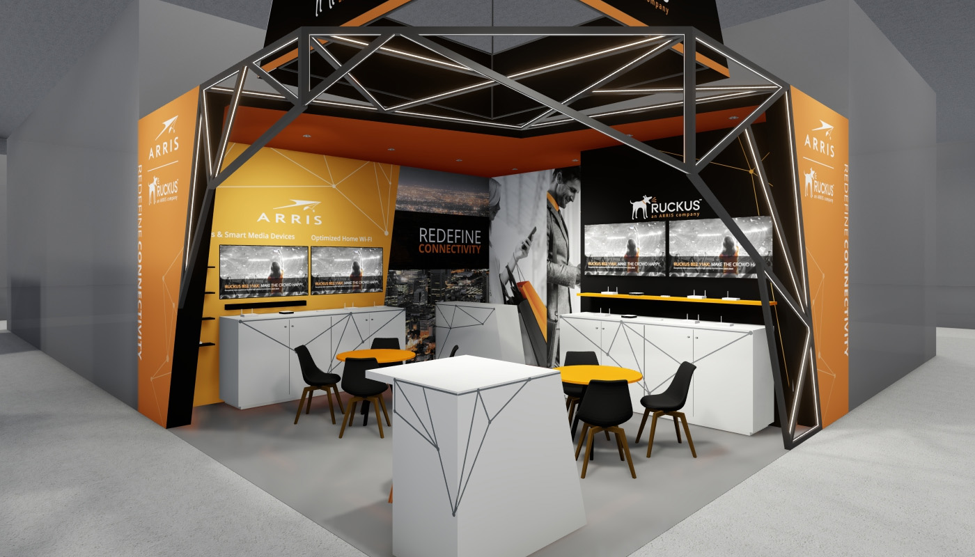Ruckus Networks Exhibition Stand Design Africom 2