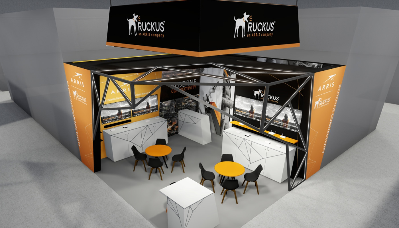 Ruckus Networks Exhibition Stand Design Africom 5