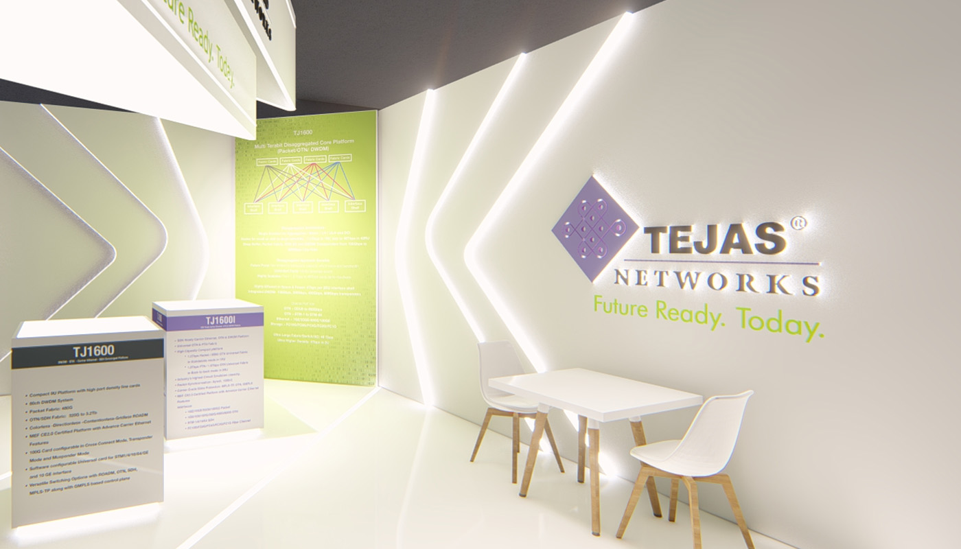 Tejas Networks Exhibition Stand Design Africom 9