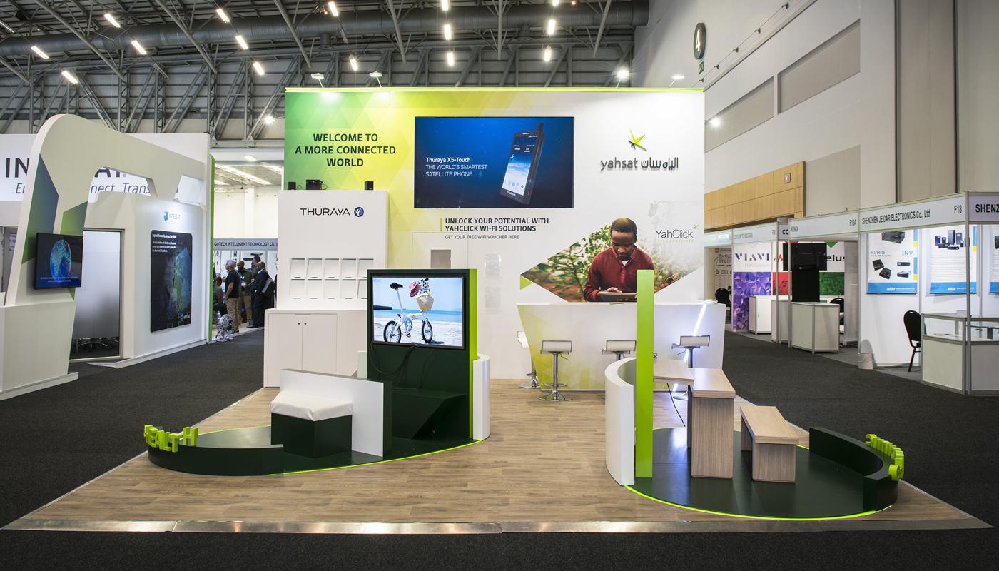 Yahsat DWTC Exhibition Stand Design Africom 2