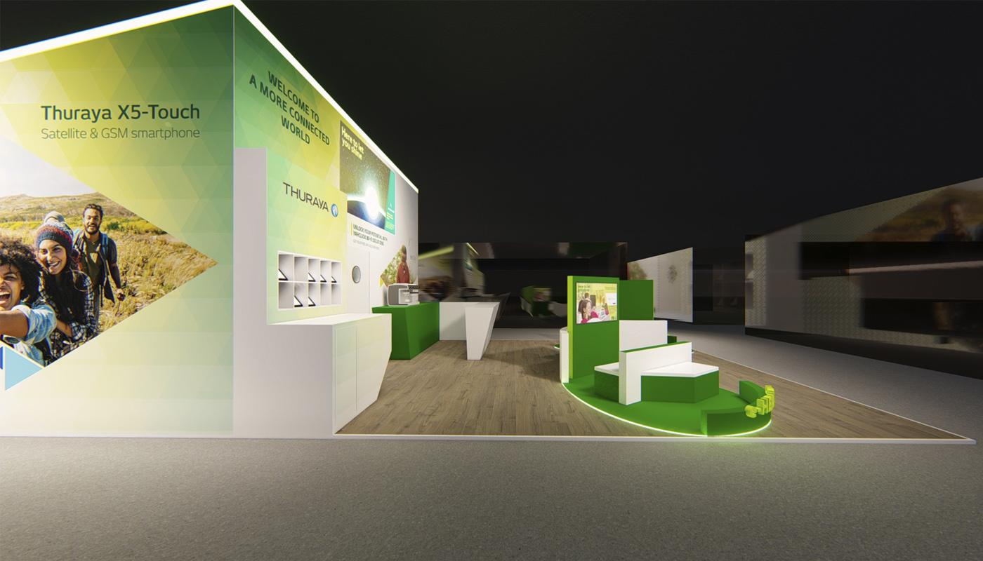 Yahsat DWTC Exhibition Stand Design Africom 7
